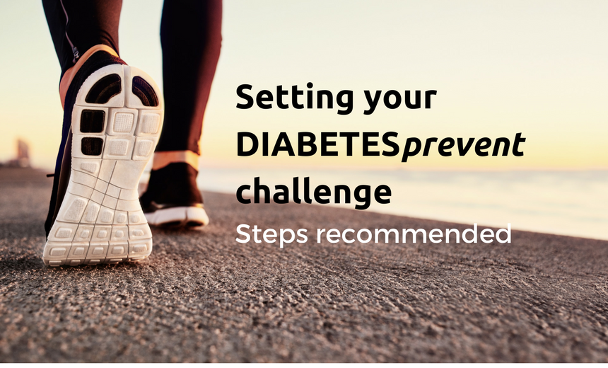 setting your DIABETESprevent app challenge