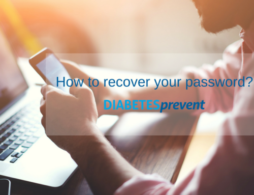 How to recover your DIABETESprevent app password?