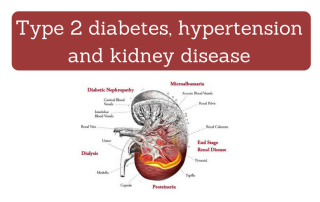 Type 2 diabetes, hypertension and kidney disease