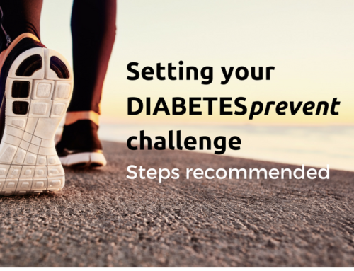 Setting your DIABETESprevent challenge: steps and recommended times